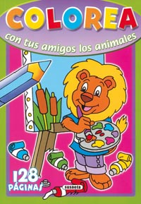 Colorea con tus amigos los animales 128 páginas