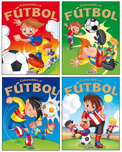 Coloreables de Fútbol (4 títulos)