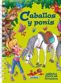Agenda escolar permanente - Caballos y ponis