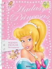 Agenda escolar permanente hadas y princesas