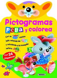 Pictogramas - Pega y colorea 1