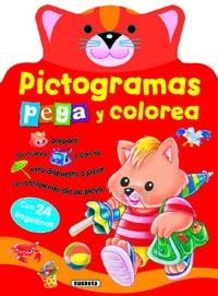 Pictogramas pega y colorea