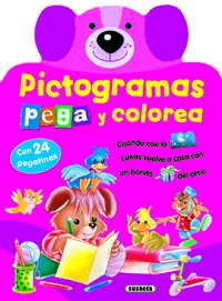 Pictogramas - Pega y colorea 4