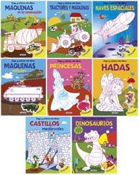Pego y coloreo mis libros (8 títulos)