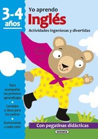 Inglés 3-4 años. Actividades ingeniosas y divertidas con pegatin