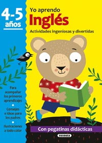 Inglés 4-5 años. Actividades ingeniosas y divertidas con pegatin