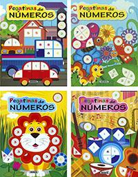 Pegatinas de números (4 títulos)