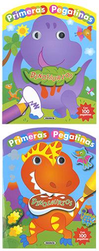 Dinosaurios con ojos y pegatinas (2 títulos)