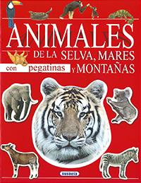 Animales de la selva, mares y montañas con pegatinas