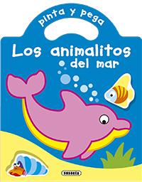 Pinta y pega los animalitos del mar