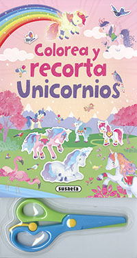 Colorea y recorta unicornios