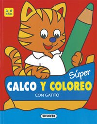 Súper Calco y coloreo con Gatito
