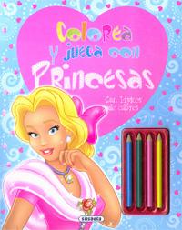 Colorea y juega con princesas. Con lápices de colores