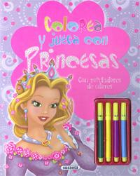 Colorea y juega con princesas. Con rotuladores de colores