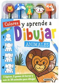 Colorea y aprende a dibujar animales