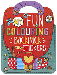 My fun colouring backpack with stickers
