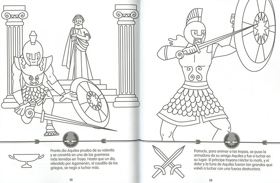 Héroes de la mitología griega para colorear y pegar, de (2018 ...